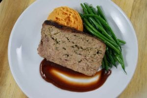 senior meal plans include meatloaf and mashed sweet potatoes