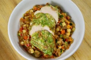 Prepared meals for seniors include pesto chicken