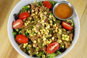 Gluten-free meals delivered such as this Turkey Taco Salad improve health